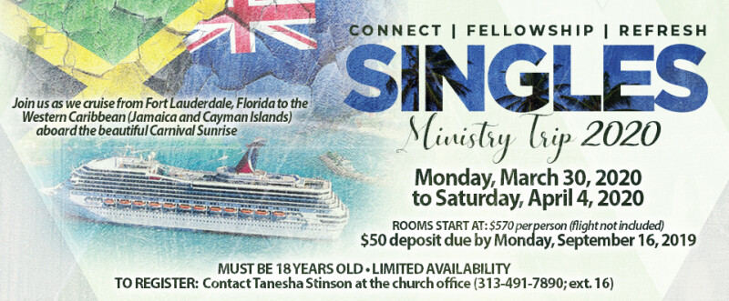 Singles Ministry Cruise